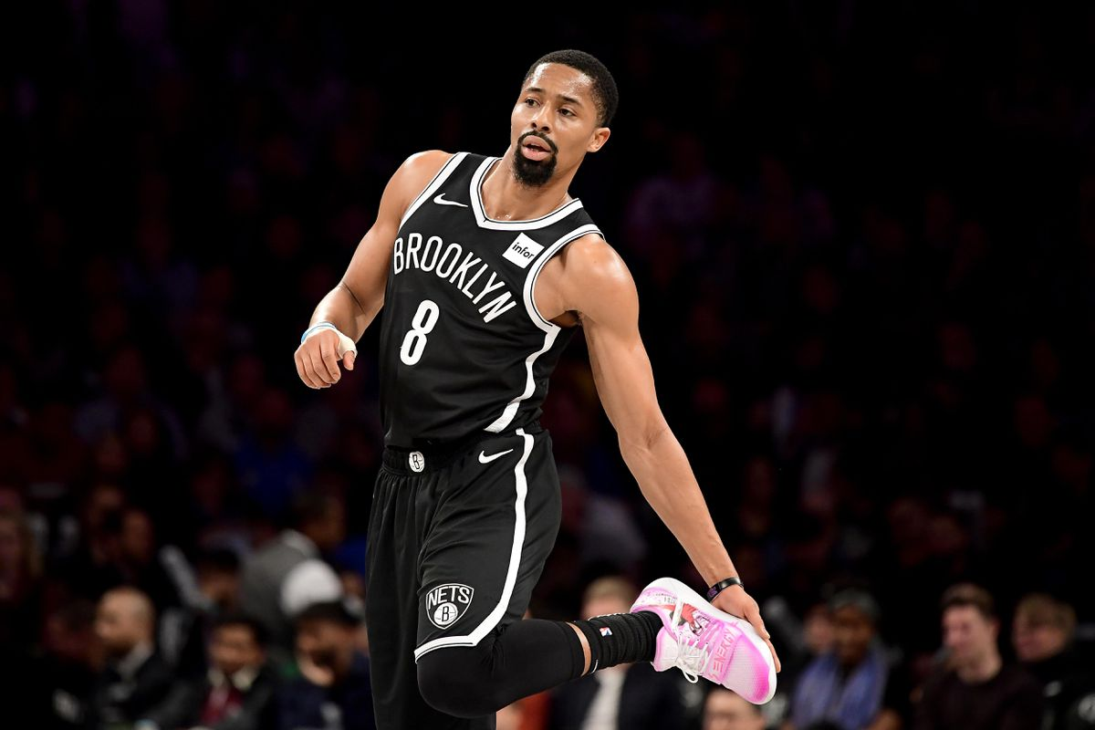 Spencer Dinwiddie of the Brooklyn Nets at Barclays Center in New York City. (Photo by Steven Ryan/Getty Images)