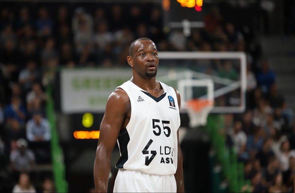 Charles Kahudi représente l'un des rares points positifs du début de saison de l'ASVEL Lyon-Villeurbanne. Photo : Alexia Leduc/Infinity Nine