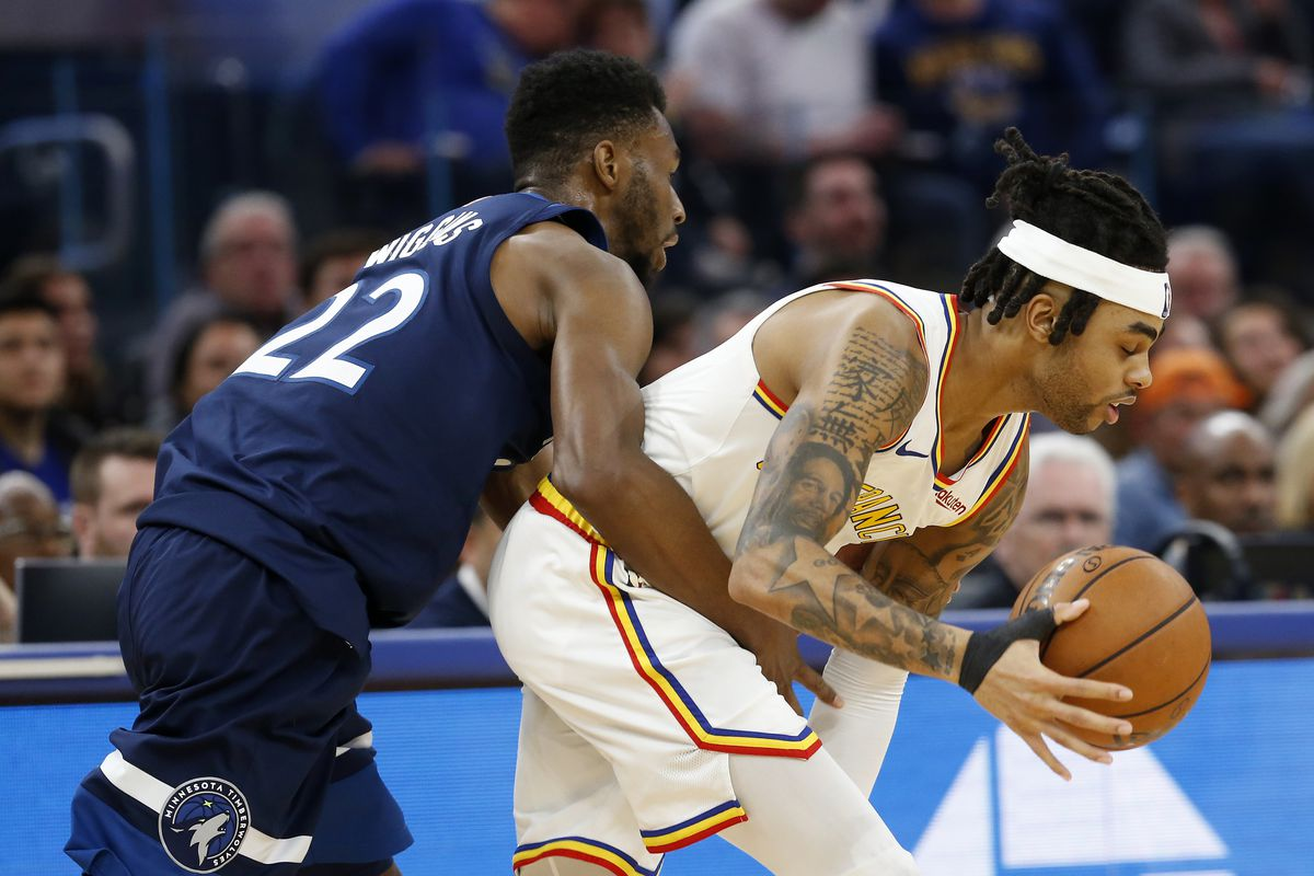 D'Angelo Russell (Golden State Warriors) vs Andrew Wiggins (Minnesota Timberwolves)