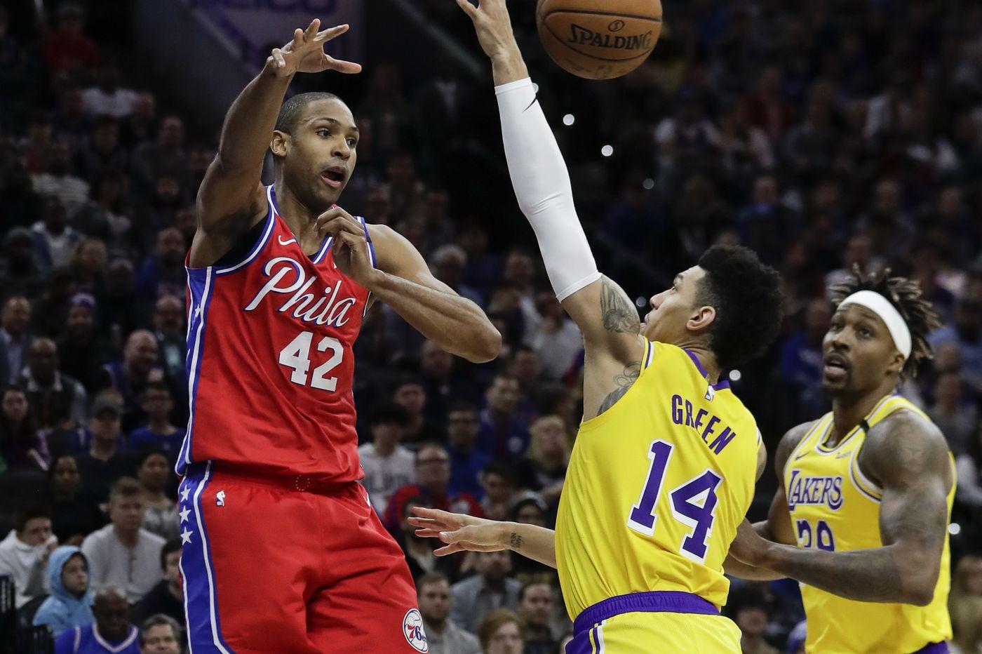 Al Horford (Philadelphia Sixers) vs. Danny Green (Los Angeles Lakers), transférés l'un contre l'autre