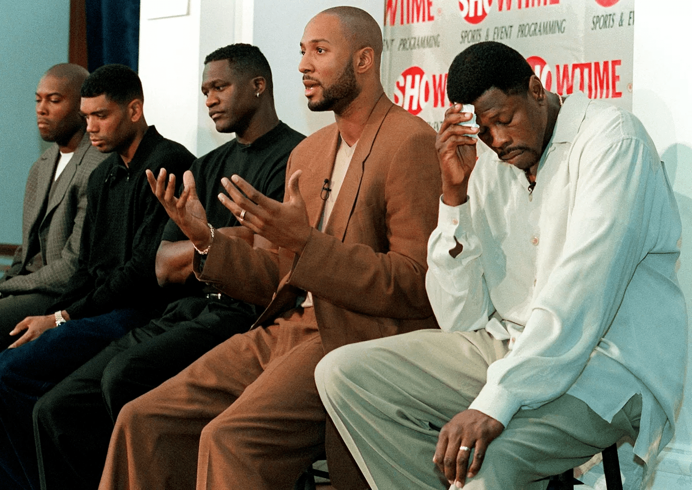 Patrick Ewing, Alonzo Mourning et Dominique Wilkins lors du lockout 1999. (Photo : Getty Images)