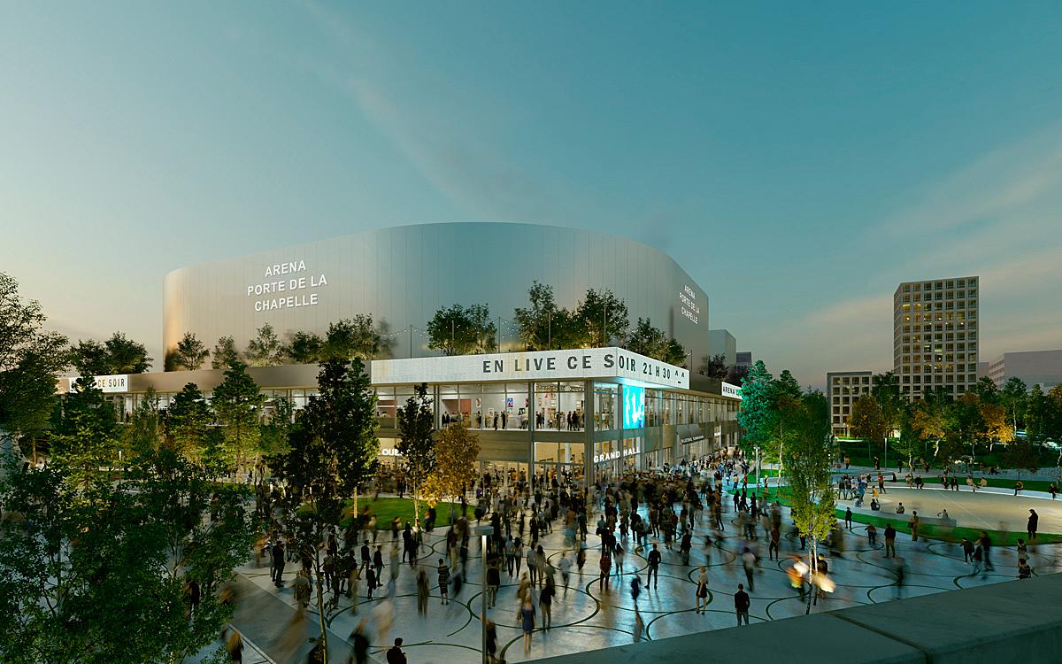 La future Arena Porte de la Chapelle / Paris Basketball